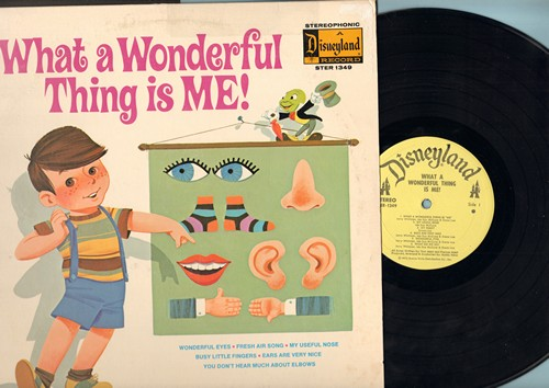 Disney - What A Wonderful Thing Is Me: Wonderful Eyes, Fresh Air Song, My Useful Nose, Busy Little Fingers (Vinyl STEREO LP record) - NM9/VG7 - LP Records