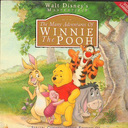 Disney - The Many Adventures Of Winnie The Pooh - LASERDISC Commemorative Edition of the Original Feature Length Disney Movie! (This is a LASERDISC!) - NM9/VG7 - LaserDiscs