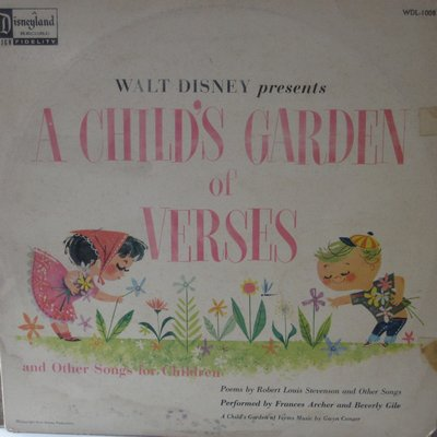 Disney - Walt Disney Presents A Child's Garden Of Verses and other songs for children (Vinyl MONO LP record) - EX8/VG6 - LP Records