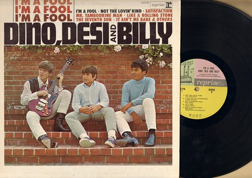 Dino, Desi & Billy - I'm A Fool: Mr. Tamborine Man, (I Can't Get No) Satisfaction, It Ain't Me Babe, Like A Rolling Stone, The Rebel Kind (Vinyl STEREO LP record) - NM9/EX8 - LP Records