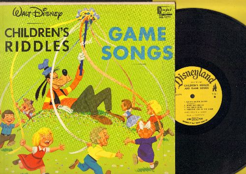 Disney - Children's Riddles and Game Songs: Limericks And Jokes, Knock Knock Who's There, The Sycamore Tree, The Riddle Song (Vinyl LP record) - EX8/VG7 - LP Records