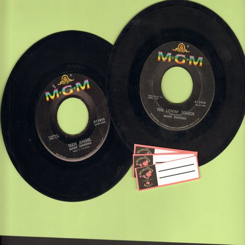 Dinning, Mark - 2 for 1 Special: Teen Angel/The Lovin' Touch (2 vintage first issue 45rpm records with blank juke box labels for the price of 1!) - VG7/ - 45 rpm Records