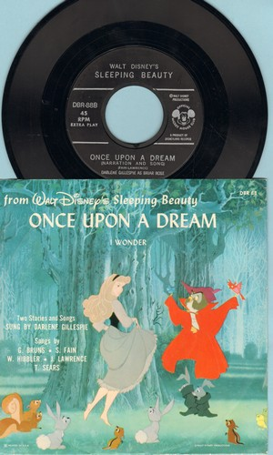 Disney - Once Upon A Dream/I Wonder (with picture sleeve) - NM9/NM9 - 45 rpm Records