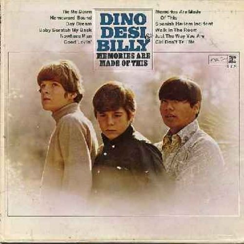 Dino, Desi & Billy - Memories Are Made Of This: Good Lovin', Daydream, Homeward Bound, Baby Scratch My Back, Nowhere Man (Vinyl MONO LP record)  - VG7/VG7 - LP Records
