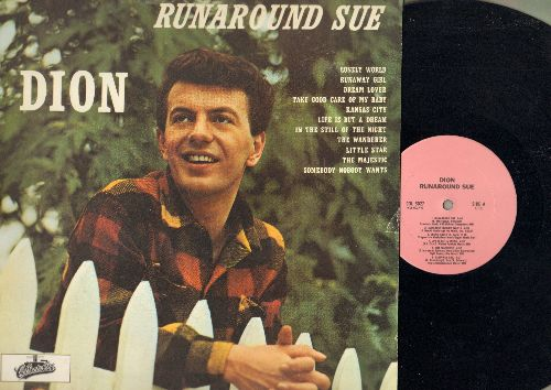 Dion - Runaround Sue: Dream Lover, Little Star, The Wanderer, Take Good Care Of My Baby (Vinyl LP record, re-issue of vintage recordings) - NM9/EX8 - LP Records