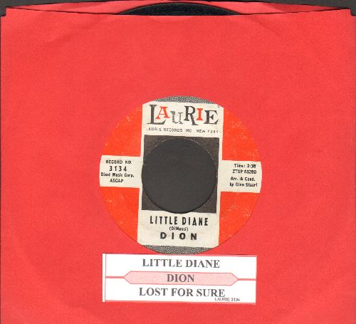 Dion - Little Diane/Lost For Sure (with juke box label) - EX8/ - 45 rpm Records