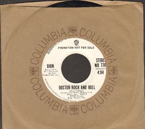 Dion - Doctor Rock And Roll (double-A-sided DJ advance pressing with Columbia company sleeve) - NM9/ - 45 rpm Records