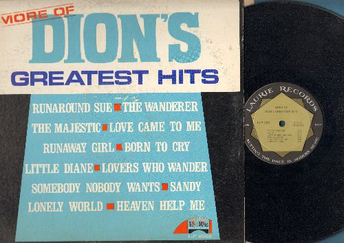 Dion - More Of Dion's Greatest Hits: Love Came To Me, Sandy, Runaround Sue, The Wanderer, The Majestic, Little Diane, Lovers Who Wander (Vinyl MONO LP record) - EX8/VG7 - LP Records