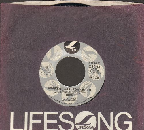 Dion - Heart Of Saturday Night/You've Awakened Something In Me (with Lifesong company sleeve) - NM9/ - 45 rpm Records