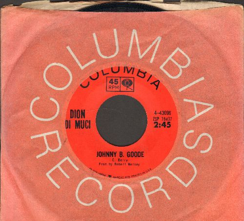 Dion - Johnny B. Goode/Chicago Blues (with Columbia company sleeve) - EX8/ - 45 rpm Records