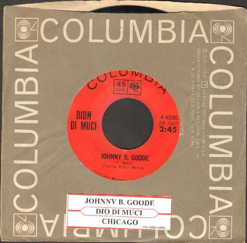Dion - Johnny B. Goode/Chicago Blues (with juke box label and Columbia company sleeve) - EX8/ - 45 rpm Records