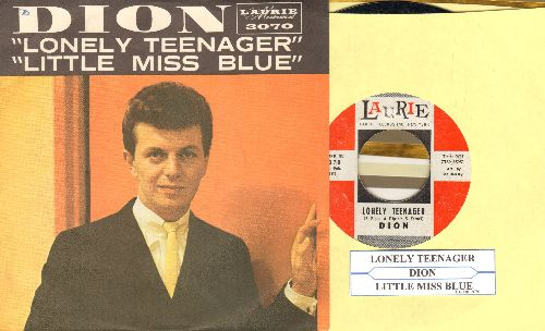 Dion - Lonely Teenager/Little Miss Blue (with picture sleeve) - NM9/NM9 - 45 rpm Records