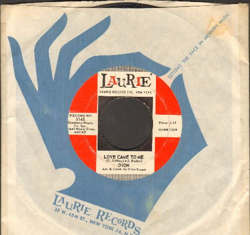 Dion - Love Came To Me/Little Girl (with vintage Laurie company sleeve)(bb) - NM9/ - 45 rpm Records