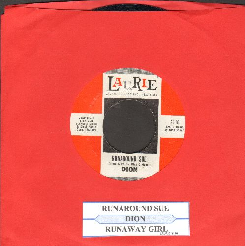 Dion - Runaround Sue/Runaway Girl (with juke box label) - NM9/ - 45 rpm Records