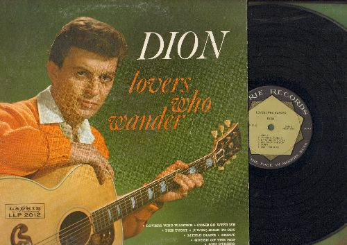 Dion - Lovers Who Wander: Come Go With Me, The Twist, Shout, Stagger Lee, Sandy (Vinyl MONO LP record) - EX8/EX8 - LP Records