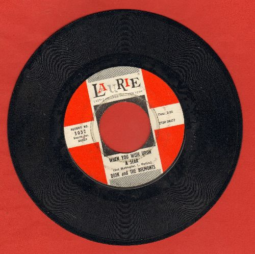 Dion & The Belmonts - When You Wish Upon A Star/Wonderful Girl  - EX8/ - 45 rpm Records