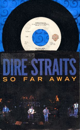 Dire Straits - So Far Away/If I Had You (with picture sleeve) - NM9/EX8 - 45 rpm Records