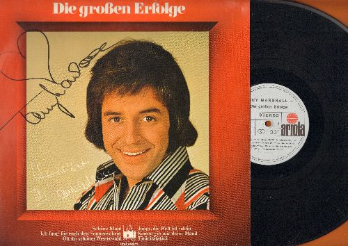 Marshall, Tony - Die grossen Erfolge: Schone Maid, Junge die Welt ist schoen, Rosamunde, Ich fang fur euch den Sonennschein (vinyl STEREO LP record, German Pressing, sung in German, with AUTOGRAPH) - EX8/NM9 - LP Records