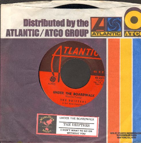 Drifters - Under The Board Walk/I Don't Want To Go On Without You (with vintage Atlantic company sleeve and juke box label) - NM9/ - 45 rpm Records