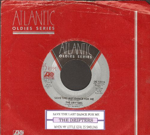 Drifters - Save The Last Dance For Me/When My Little Girl Is Smiling (double-hit re-issue with Atlantic company sleeve) - NM9/ - 45 rpm Records