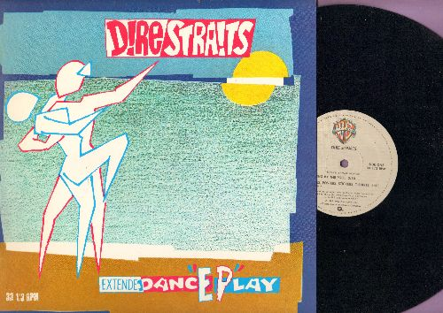Dire Straits - Twisting By The Pool/Badges, Posters, Stickers, T-Shirts/Two Young Lovers/If I Had You (12 inch Maxi Single with picture cover) - NM9/ - Maxi Singles