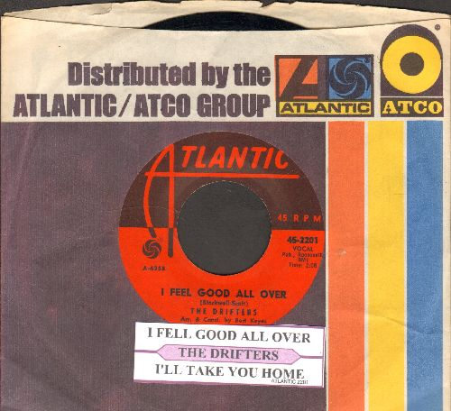 Drifters - I Feel Good All Over/I'll Take You Home (with juke box label and Atlantic company sleeve) - NM9/ - 45 rpm Records