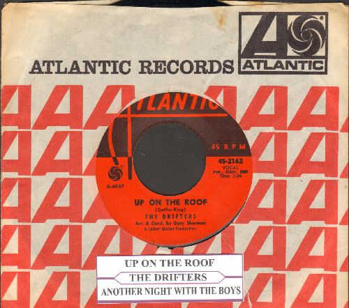 Drifters - Up On The Roof/Another Night With The Boys (with Atlantic company sleeve and juke box label) - EX8/ - 45 rpm Records