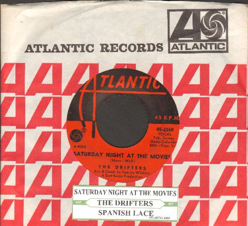 Drifters - Saturday Night At The Movies/Spanish Lace (first pressing with juke box label and Atlantic company sleeve) - EX8/ - 45 rpm Records