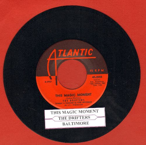 Drifters - This Magic Moment/Baltimore (with juke boc label) - NM9/ - 45 rpm Records