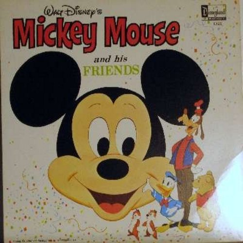 Disney - Mickey Mouse And His Friends: Happy Mouse, Mousekedance, Mickey Mouse Mambo, Mickey Mouse March, Donald Duck Song (Vinyl MONO LP record, 1968 first issue, NICE condition!) - NM9/EX8 - LP Records