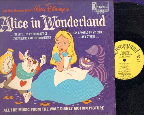 Disney - Alice In Wonderland - All the songs from the Disney Classic (vinyl LP record) - VG7/EX8 - LP Records