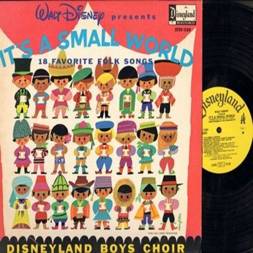 Disney - It's A Small World: 18 Favorite Folk Songs in the Languages of The World (Vinyl STEREO LP record, NICE condition!) - NM9/NM9 - LP Records