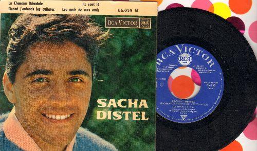 Distel, Sacha - La Chanson Orientale/Quand j'entends les guitars/Ils sont la/Les amis de mes amis (vinyl EP record with picture cover, French Pressing sung in French) - NM9/EX8 - 45 rpm Records