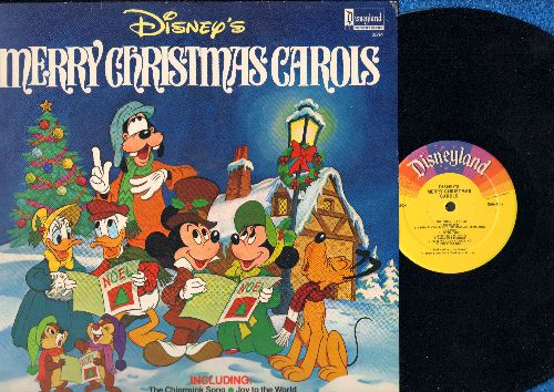 Disney - Merry Christmas Carols: The Chipmunk Song, Joy To The World, Here Comes Santa Claus, Have Yourself A Merry Little Christmas (Vinyl LP record, NICE condition!) - VG7/VG7 - LP Records