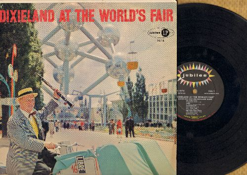 Bee, David & His Dixieland Band - Dixieland At The World's Fair: Oh Mein Papa, Anna, Third Man Theme, Moulin Rouge, Dixie Wedding In Europe, Sur Le Pont D'Avignon (Vinyl MONO LP record) - EX8/VG7 - LP Records