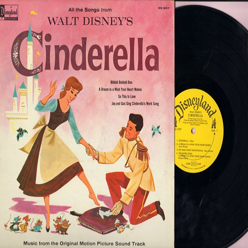 Disney - Cinderella - Music from the Original Motion Picture Sound Track (Vinyl MONO LP record) - VG7/VG7 - LP Records