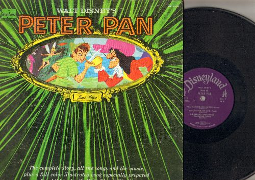 Disney - Peter Pan: Complete story, songs and music with picture pages (Vinyl STEREO LP record) - VG7/VG7 - LP Records