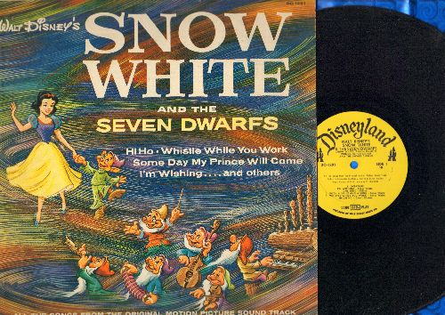 Disney - Snow White And The Seven Dwarfs - All Songs From The Original Motion Picture (Vinyl MONO LP record, 1959 issue) - EX8/EX8 - LP Records