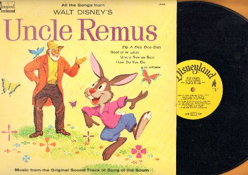 Disney - Uncle Remus: Zip-A-Dee-Doo-Dah, How Do You Do, Everybody Has A Laughing Place, Uncle Remus Said (Vinyl MONO LP record) - EX8/EX8 - LP Records