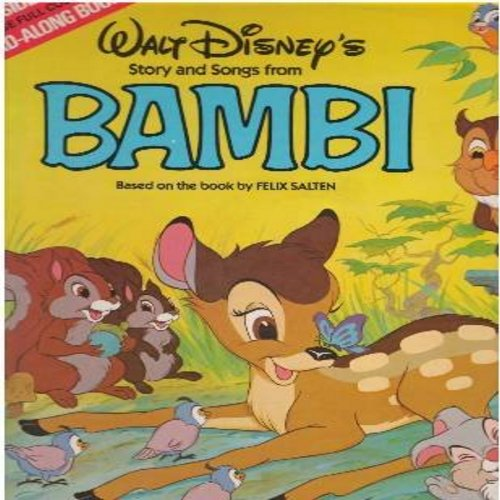 Disney - Bambi - All the Songs from the Original Motion Picture Sound Track - includes Love Is A Song, Little April Shower, I Bring You A Song , with picture book (Vinyl MONO LP record) - EX8/EX8 - LP Records