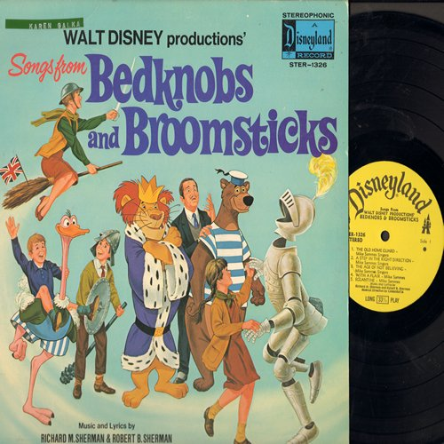 Disney - Bedknobs And Broomsticks - Music and Lyrics by Robert M. Sherman & Robert B. Sherman (Vinyl STEREO LP record) - NM9/VG7 - LP Records
