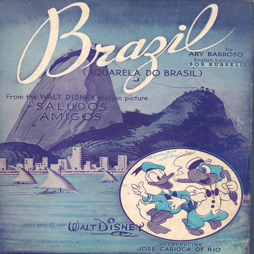 Disney - Brazil - SHEET MUSIC for the Standard featured in Disney Classic -The Three Amigos- (This is SHEET MUSIC, not any other kind of media!) - EX8/ - Sheet Music