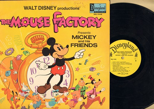 Disney - Mouse Factory - Mickey And His Friends: Happy Mouse, Donald Duck Song, Mickey Mouse March, Goofy Commercials, Minnie's Yoo Hoo! (Vinyl MONO LP record) - EX8/VG6 - LP Records