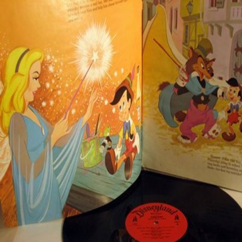 Disney - Pinocchio - The complete story, all the songs and the music, plus a full color illustrated book especially prepared for children by Walt Disney Studio. (Vinyl MONO LP record) - EX8/VG7 - LP Records