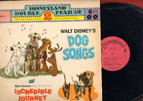 Disney - Disneyland Double Feature: Dog Songs/Incredible Journey (2 vinyl MONO LP records in gate-fold cover) - EX8/VG7 - LP Records