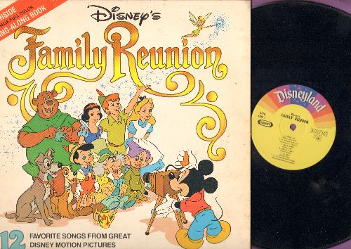 Disney - Disney's Familily Reunion - Heigh-Ho, Bella Notte, When You Wish Upon A Star, He's A Tramp (Vinyl LP record with picture pages, KRAFT Special Issue) - EX8/VG6 - LP Records