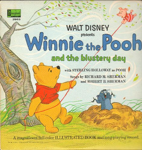 Disney - Winnie The Pooh And The Blustery Day (Vinyl MONO LP record with full color illustrated pages) - NM9/EX8 - LP Records