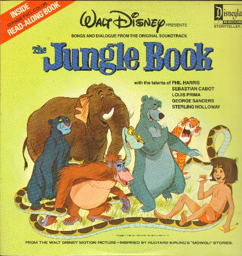 Disney - Jungle Book - Songs and Dialogue from the Original Soundtrack (Vinyl LP record, gate-fold cover with color picture pages) - NM9/EX8 - LP Records