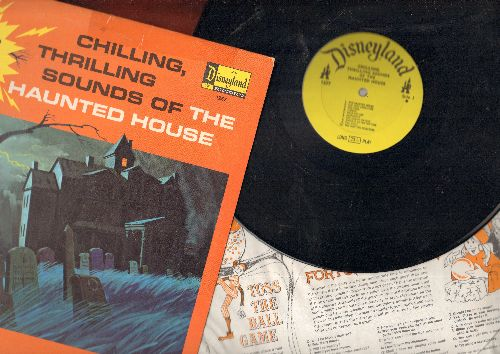 Disney - Chilling, Thrilling Sounds Of The Haunted House - (WITH BONUS party hints inner sleeve)  (vinyl MONO LP record) - EX8/VG7 - LP Records