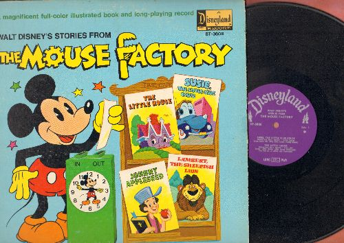 Disney - The Mouse Factory: Susie, The Little Blue Coupe/The Little House/Johnny Appleseed/Lambert, The Sheepish Lion (Vinyl STEREO LP record, gate-fold with picture pages) - VG7/VG7 - LP Records